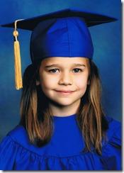 Zoe Kindergarten Grad
