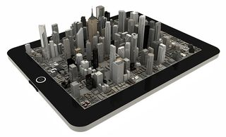 City on a tablet PC-2